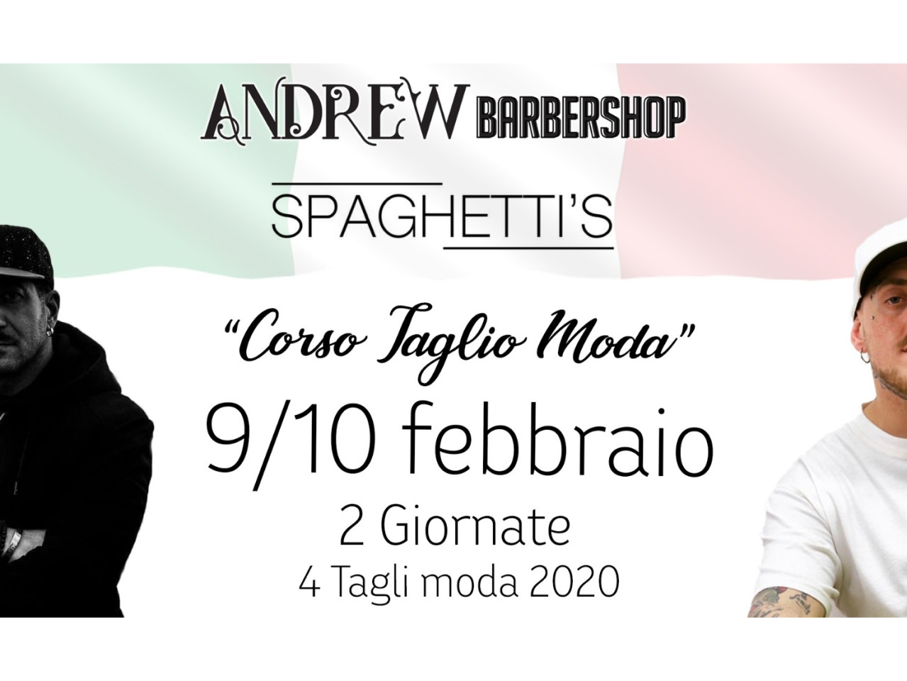 Academy Andrew Barbershop con Woody Spaghetti's - Look visual  2020
